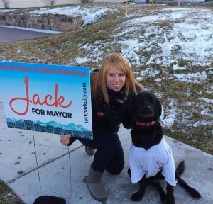 Redhead canine intern Jackson made for a great campaign mascot and is pleased to be retired from his political life.