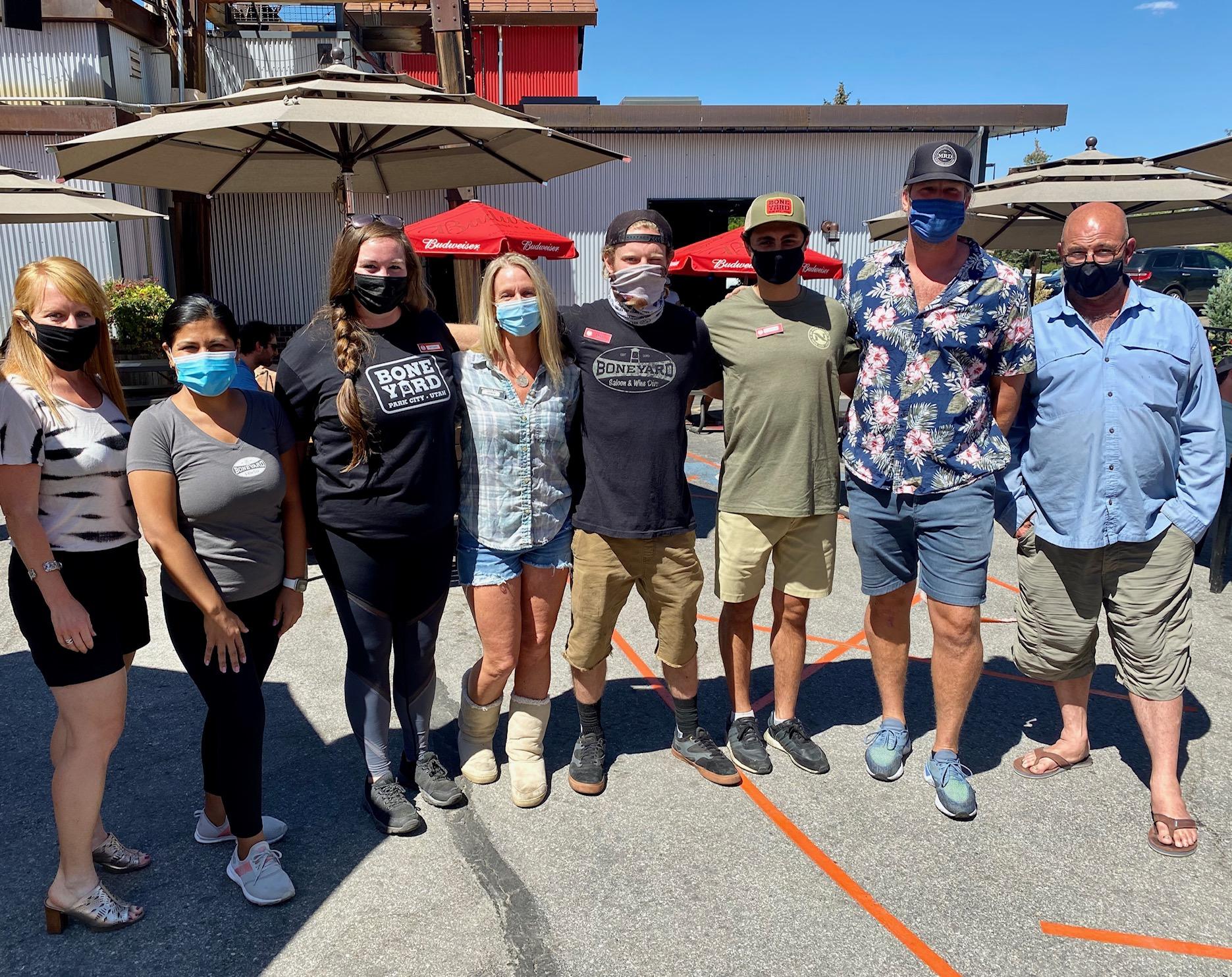 Boneyard Saloon staff receiving $1000 tip