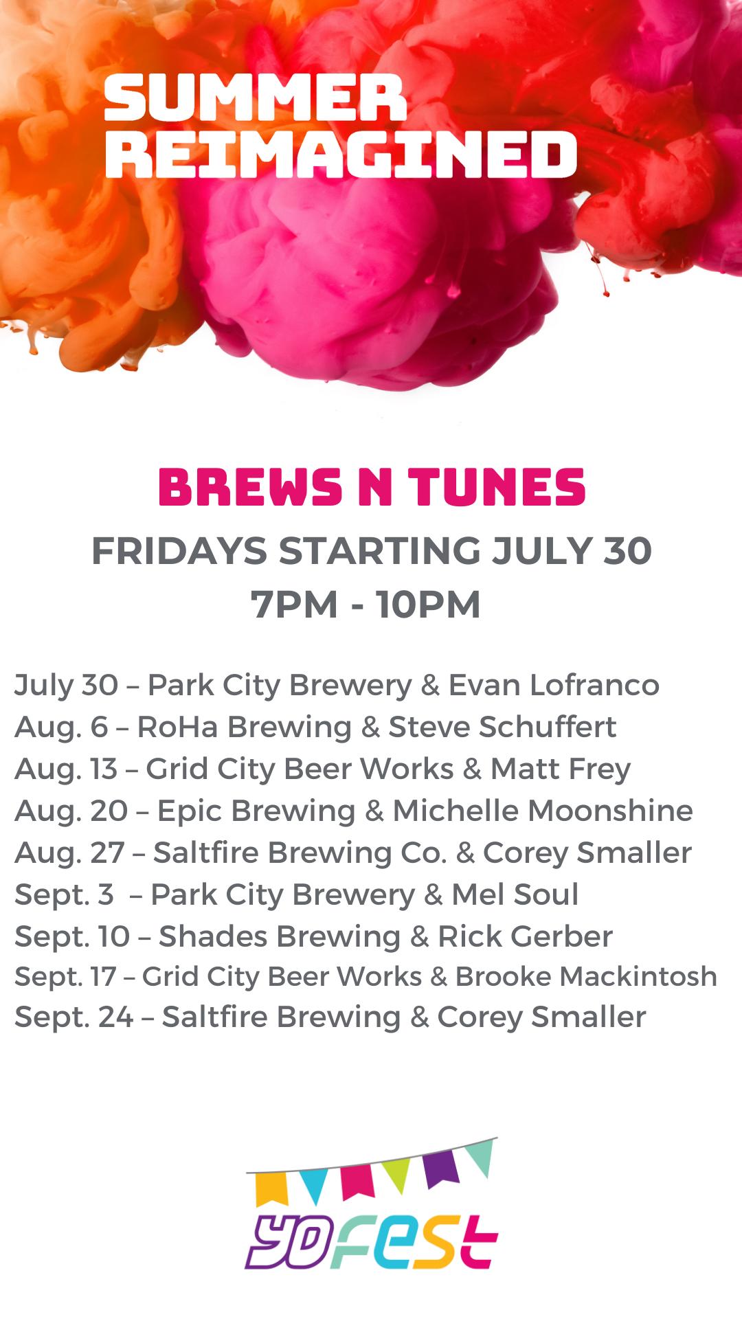 Brews N Tunes schedule