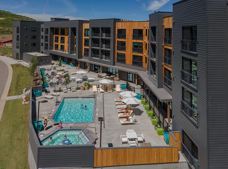 YOTELPAD backyard and pool